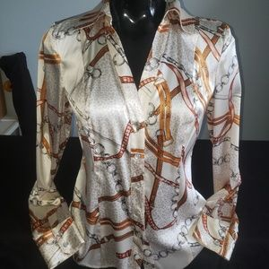 Cache long sleeve Medium button up blouse